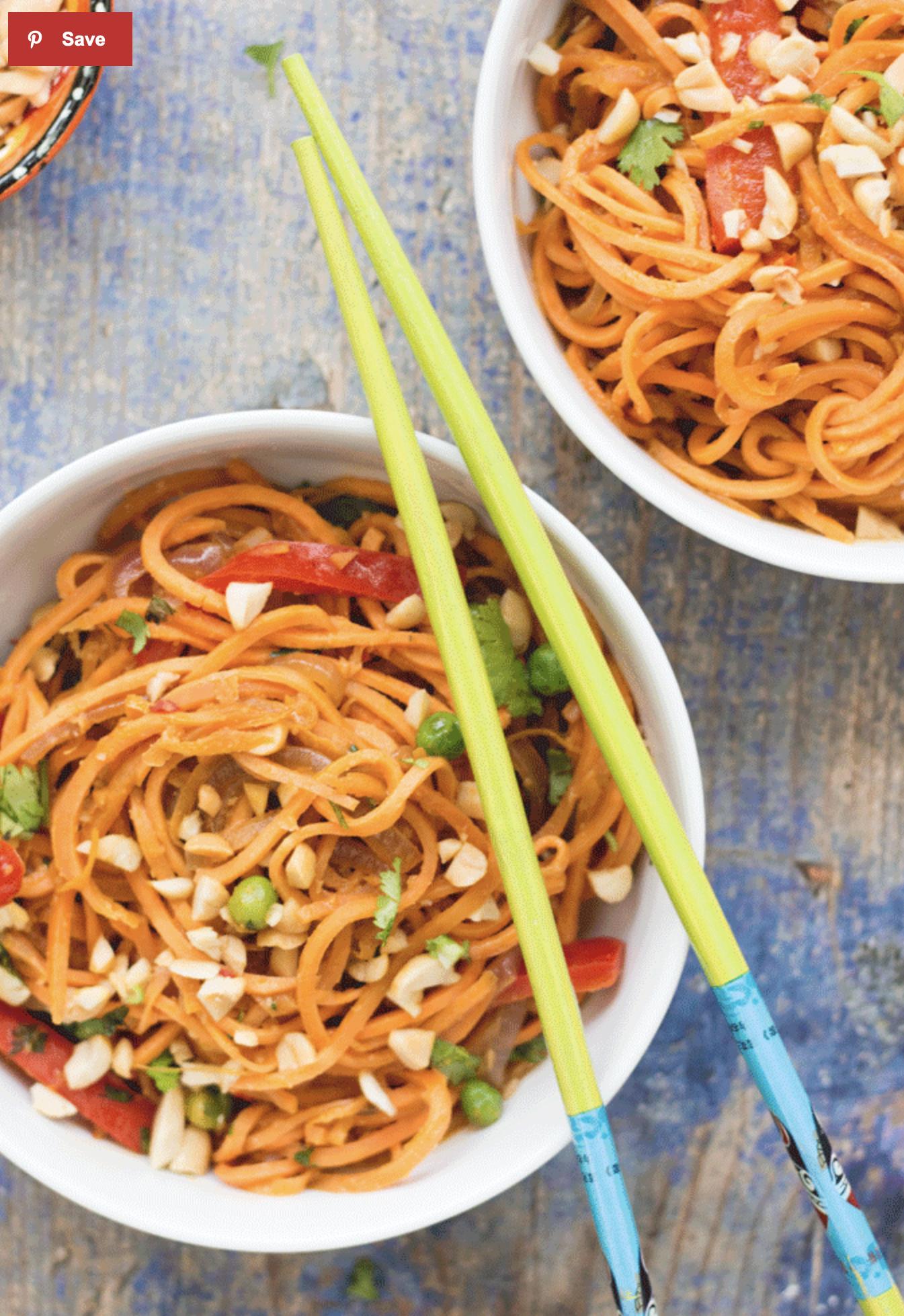 Asian Style Sweet Potato Noodles