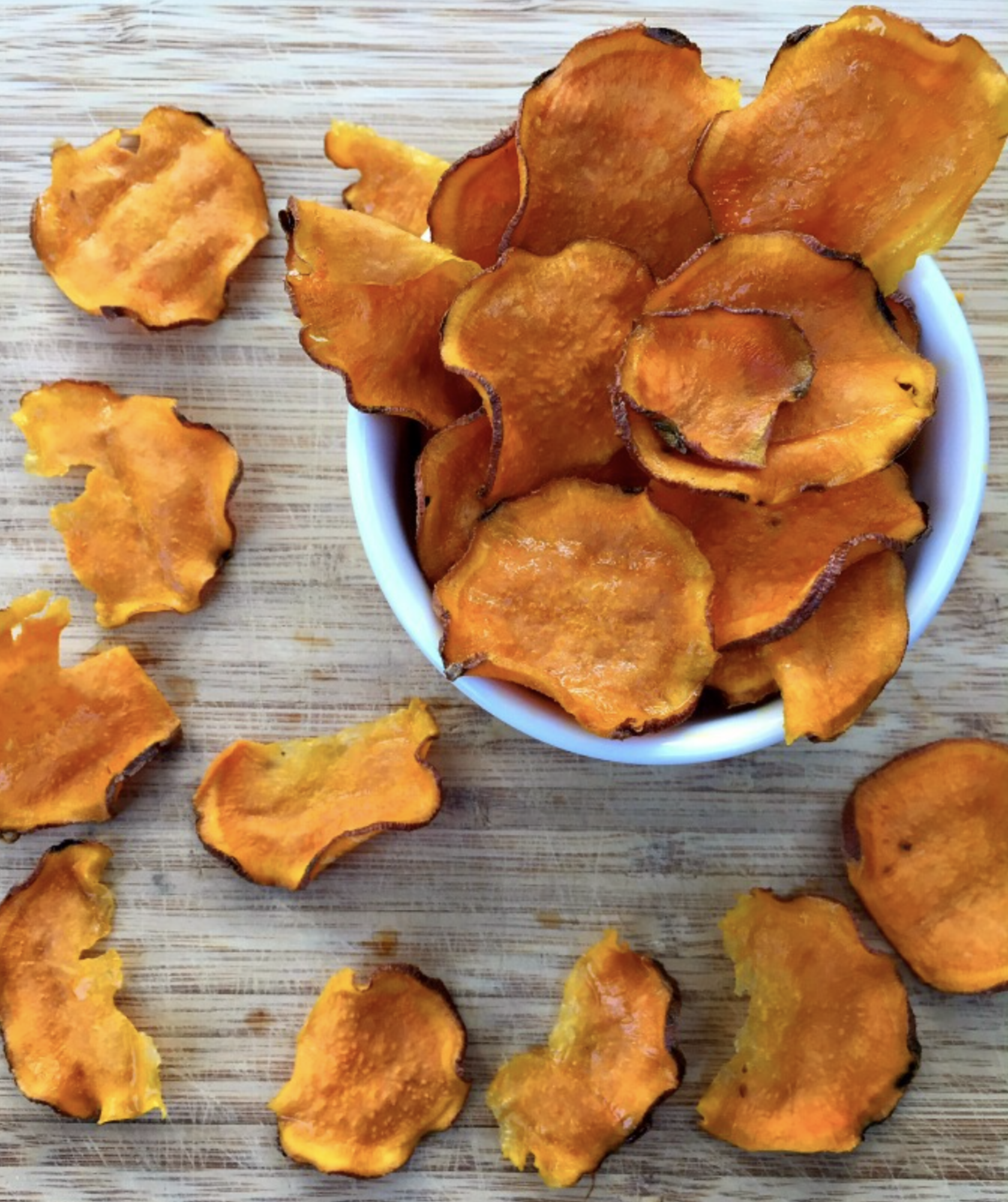 crunchy oven sweet potato chips