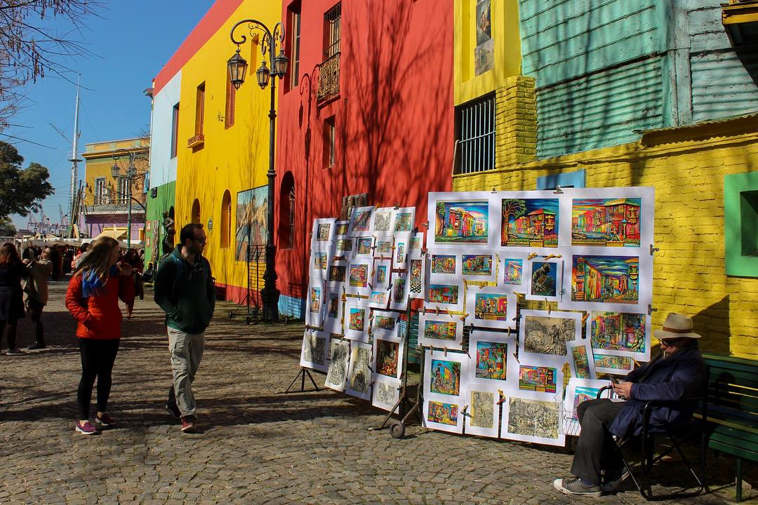 The colorful neighbourhood of La Boca, Buenos Aires, Argentina