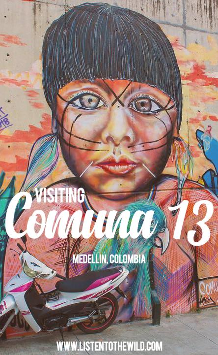 Visiting Comuna 13, graffiti tour in Medellin, Colombia