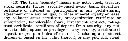 From the Securities Act of 1934