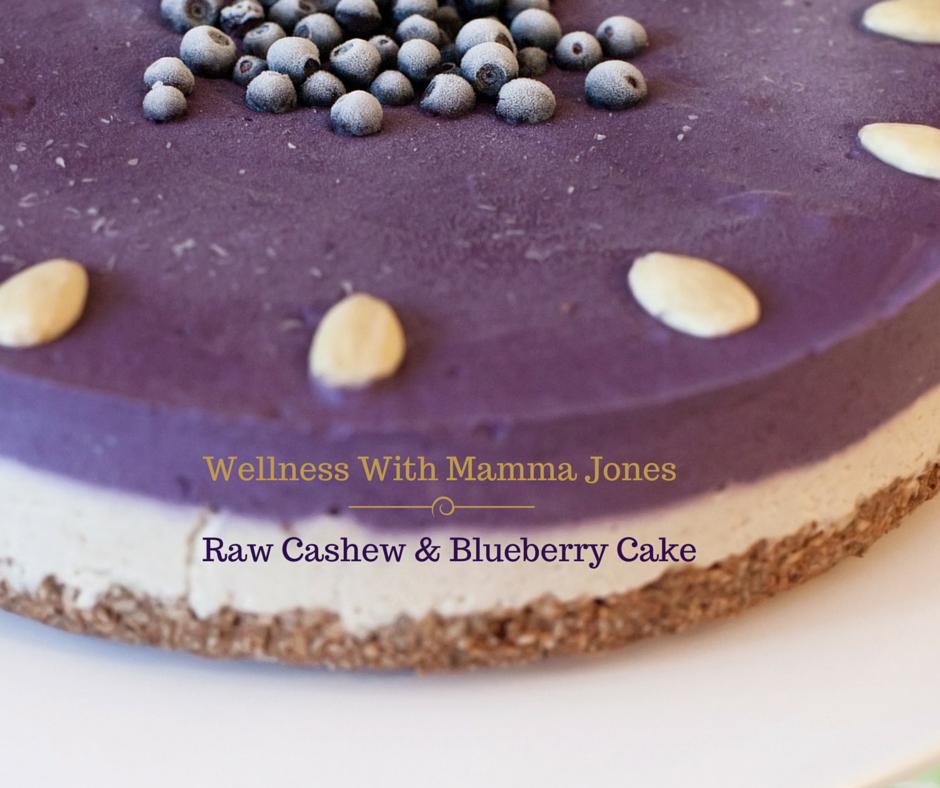 RAW CASHEW AND BLUEBERRY CHEESECAKE RECIPE