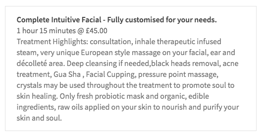 www.nikolettjones.com Book therapeutic facial Treatment at the comfort of your own home.