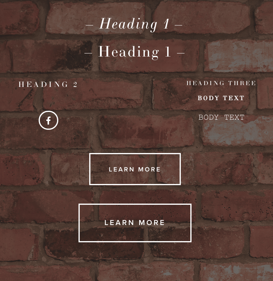 Styling and Fonts