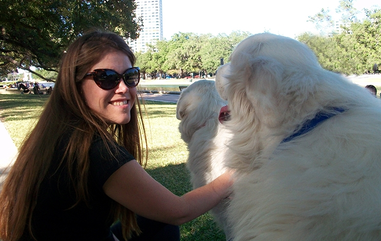 Dolly & Prince & me at Hermann Park