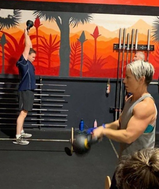 Sharon Kettlebell Swings - June 2019