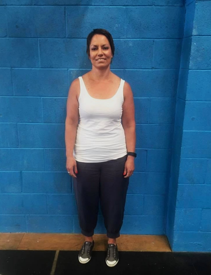 Sharon at the start of her CrossFit journey - 2016