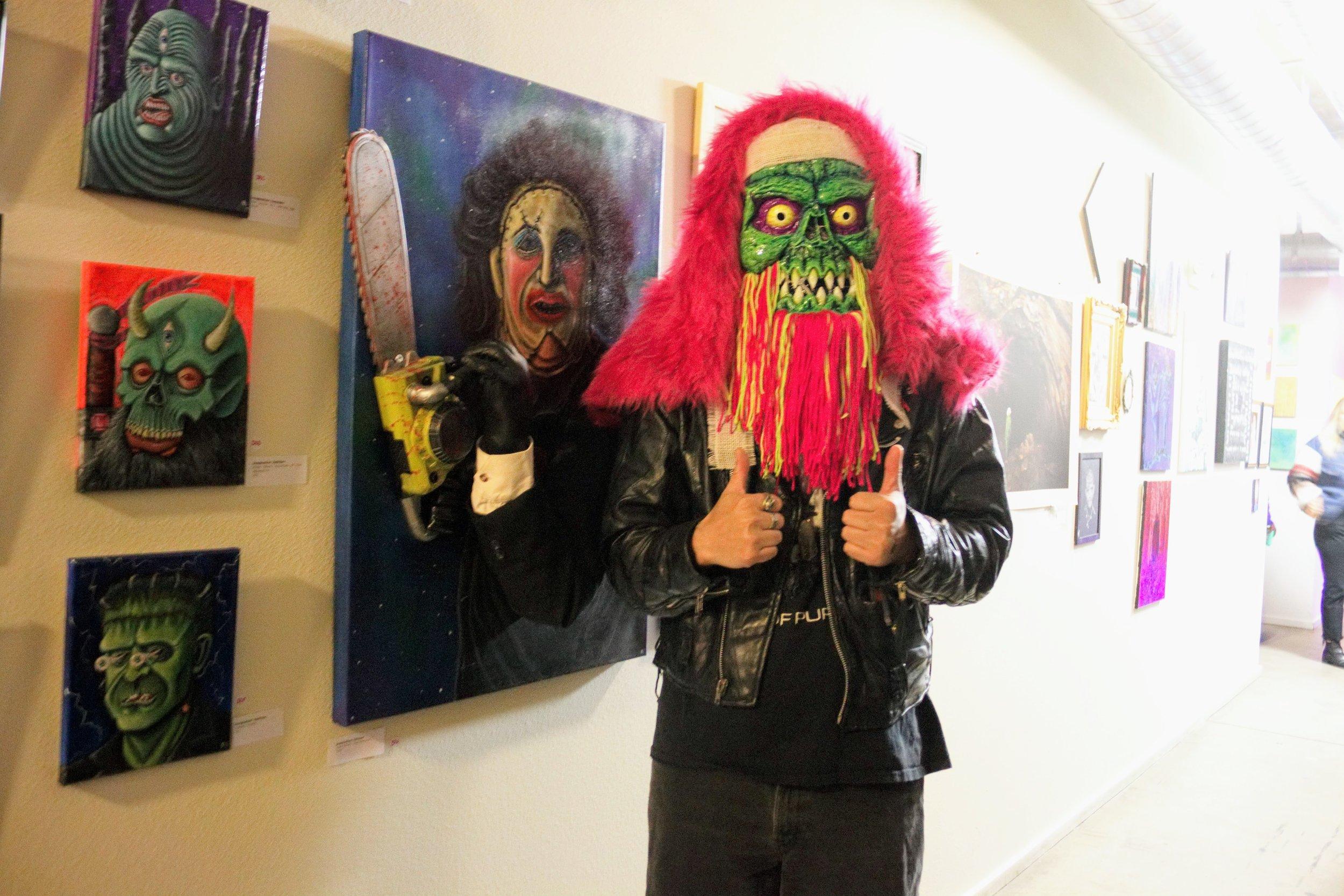 Jayce Wierzbicki in neon mask