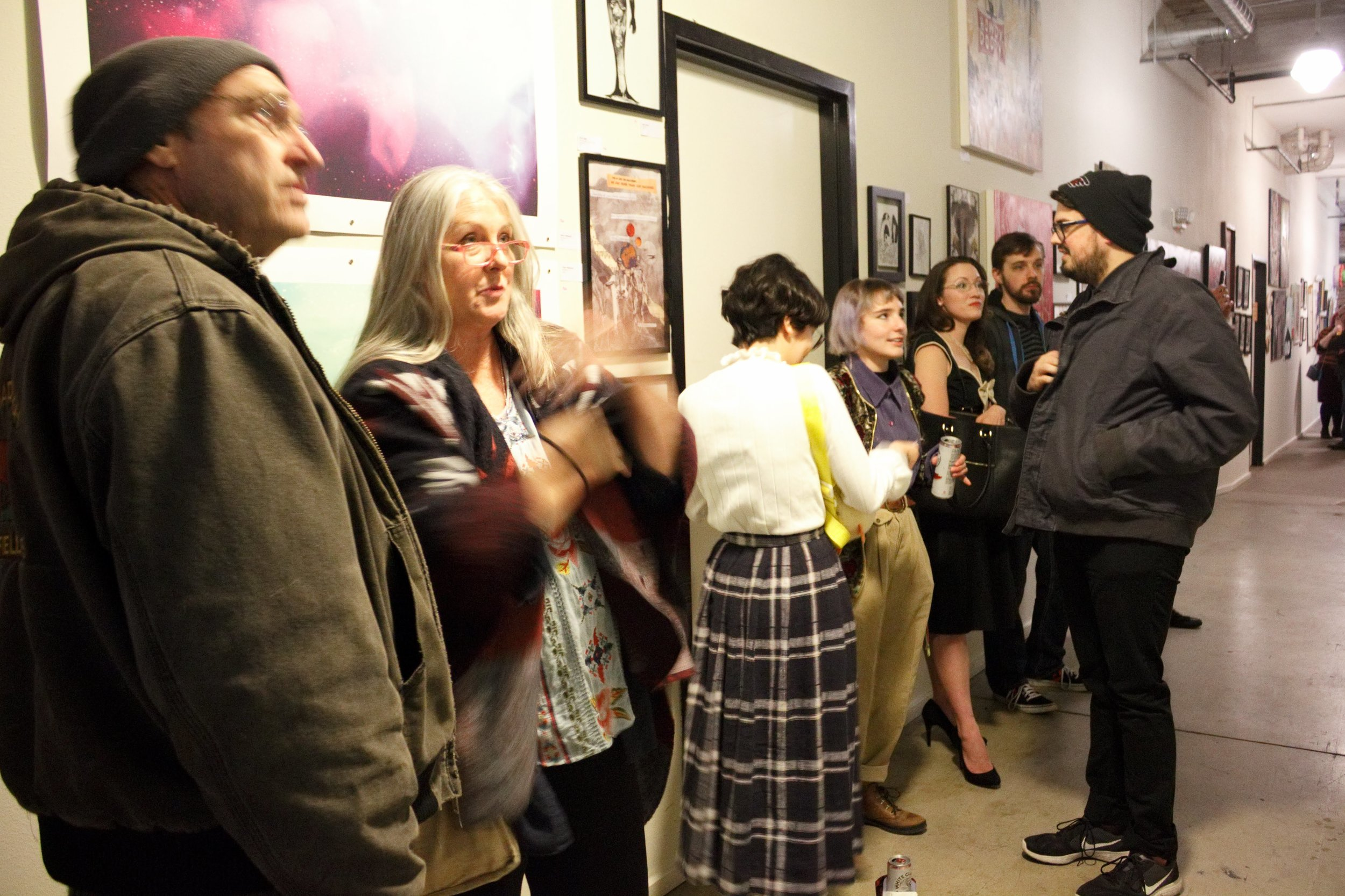 """Noah LeGrand and friends at """"Fuck Your Art Degree"""" at Shipping and Receiving, March 2nd, 2019"""