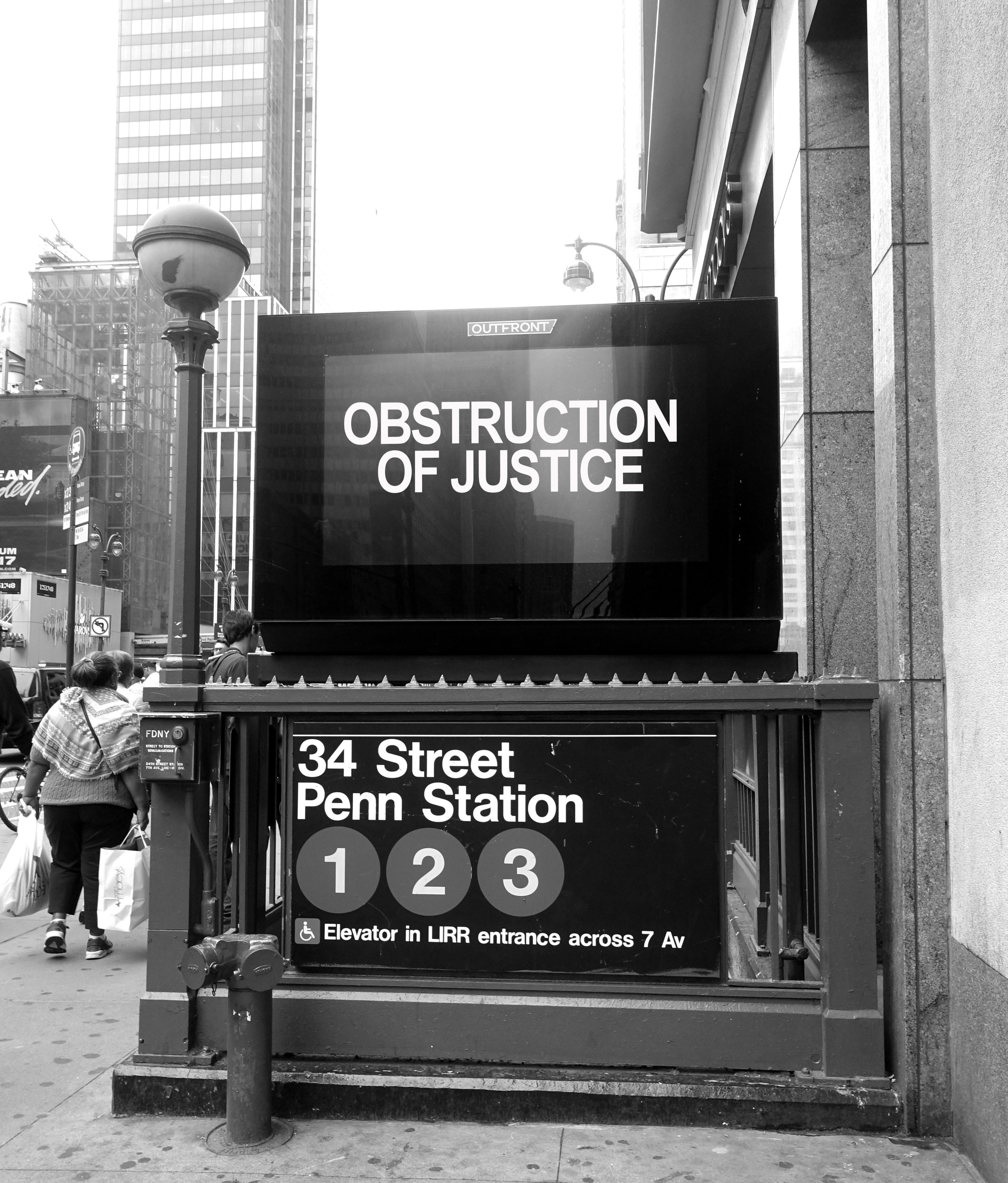 Obstruction of Justice, Installation View