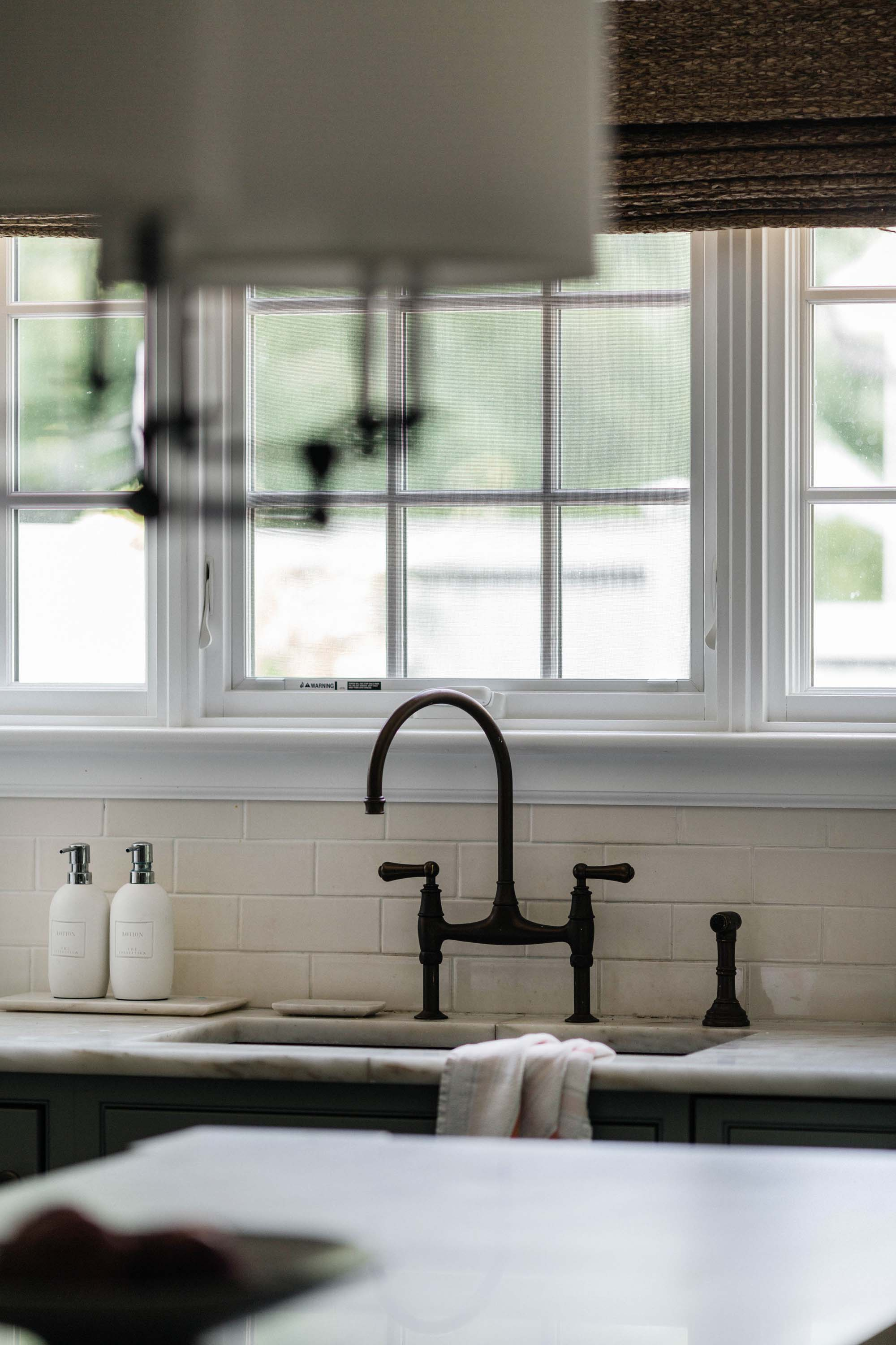 Kitchen interior with vintage style faucet