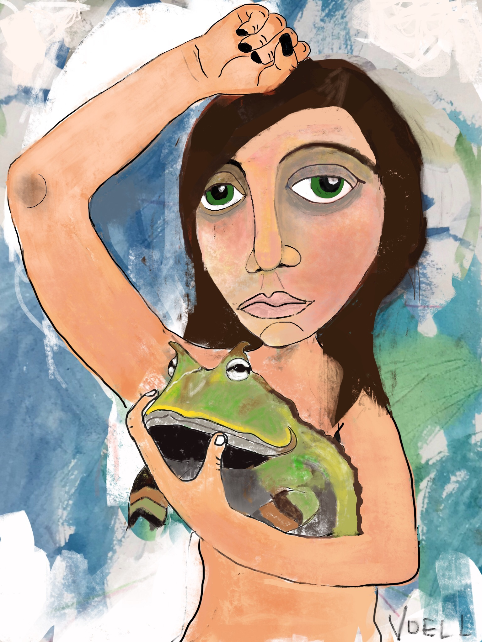 Woman and Toad, 2018