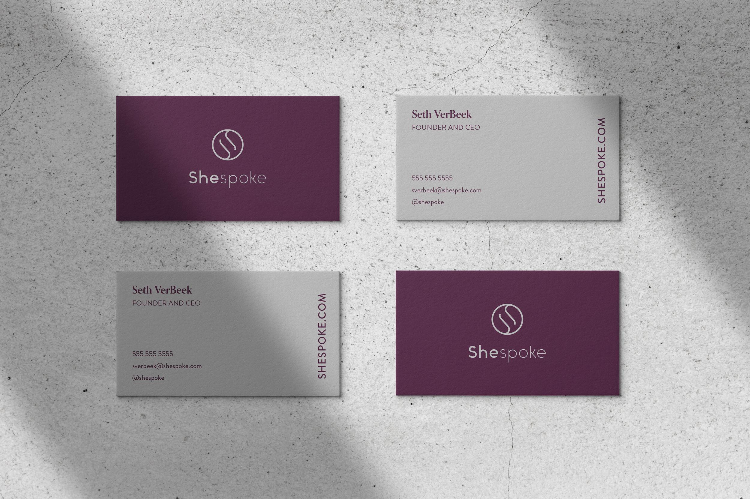 Shespoke Business Cards