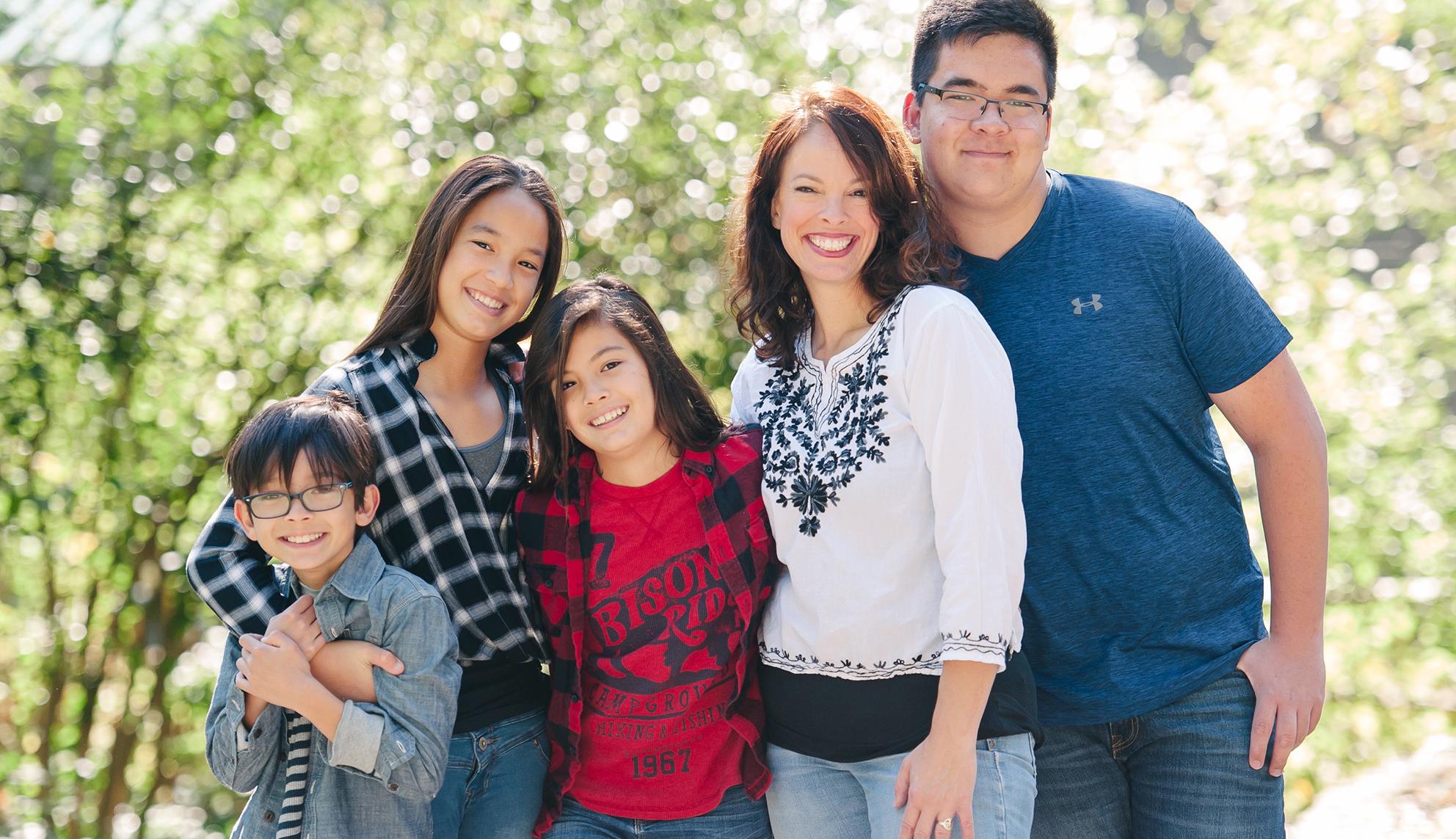 Kira with her kids