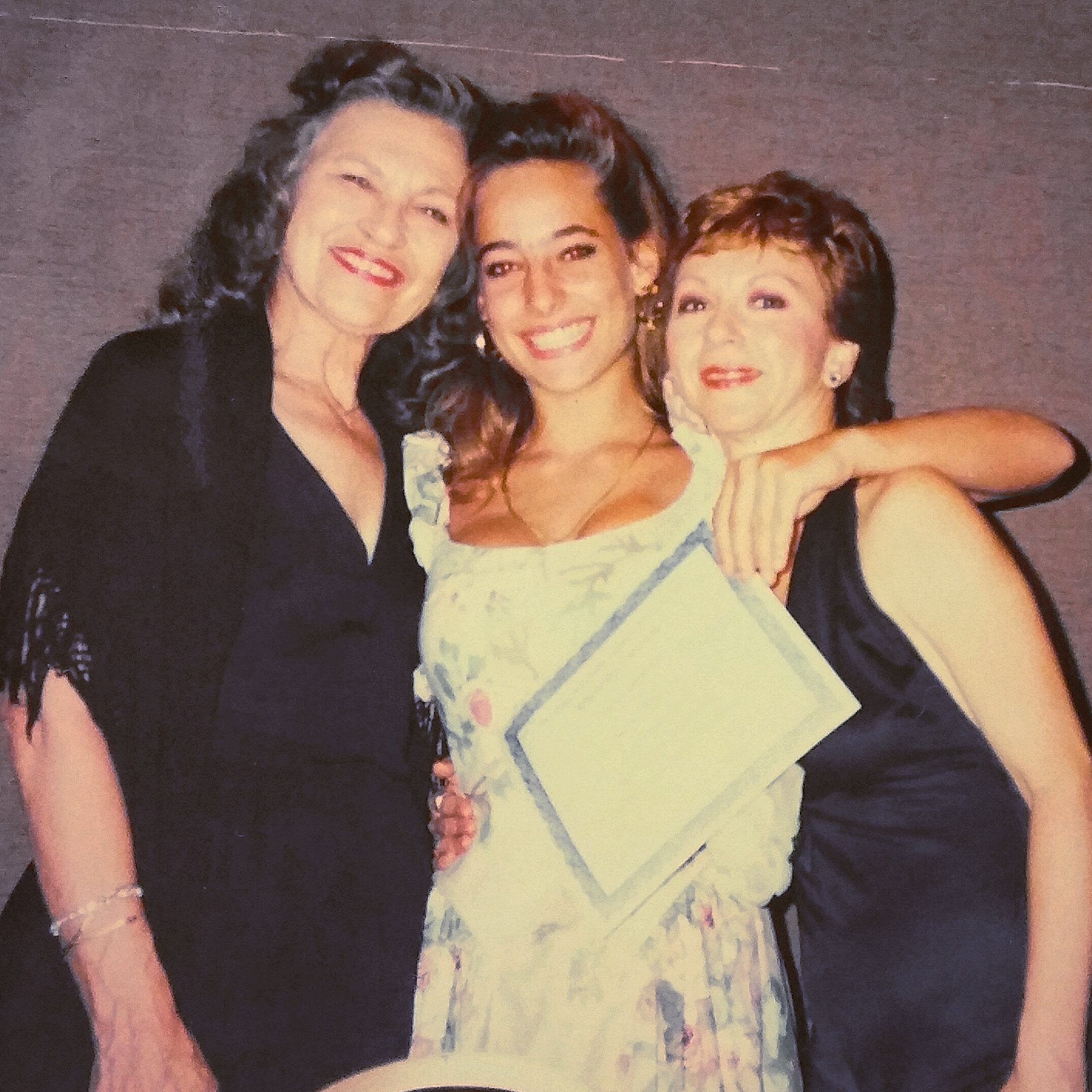 Jessica being presented with a scholarship award from Patsy Swayze (left) and the Texas Association Teachers of Dance
