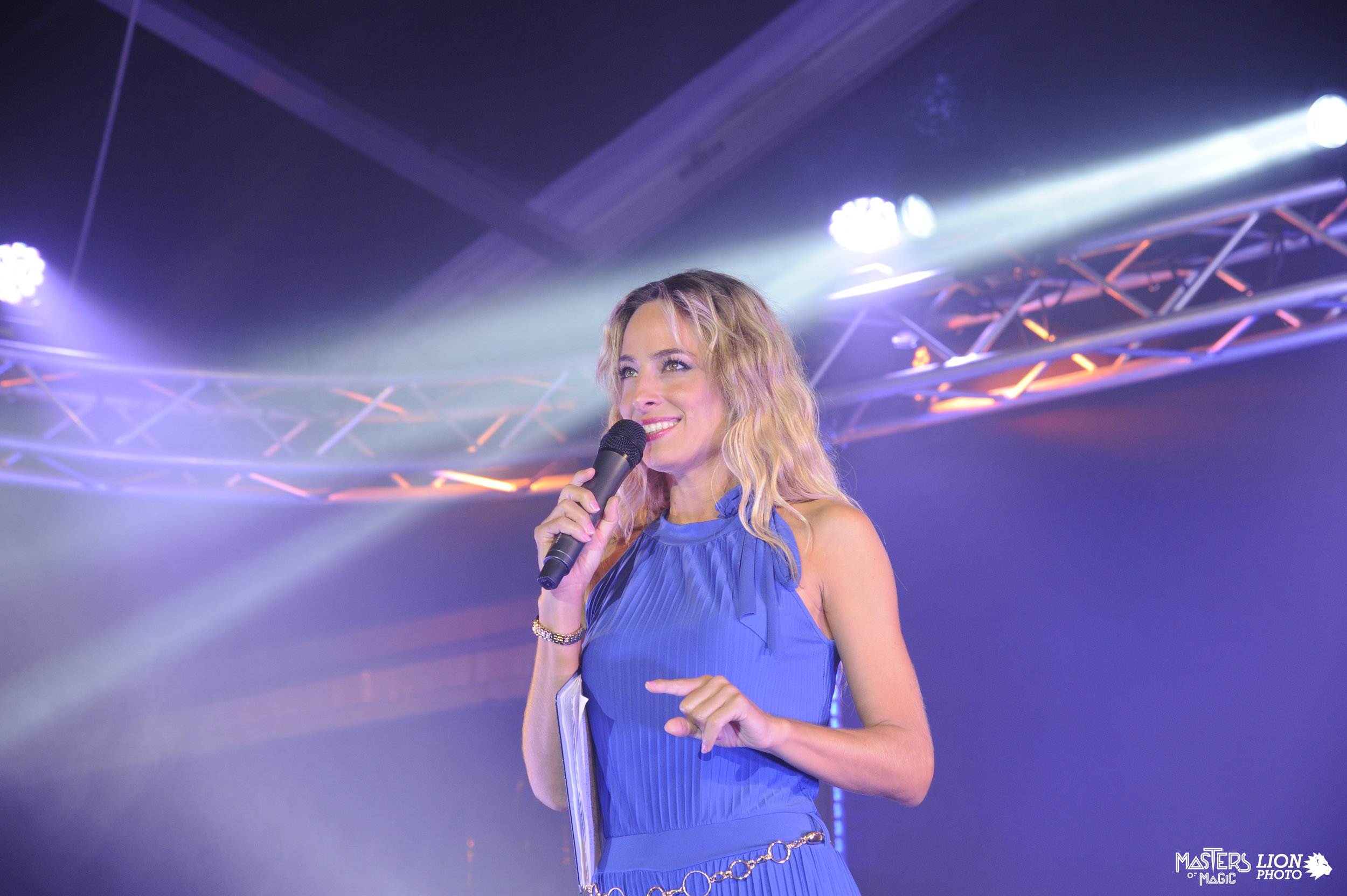Jessica hosting a private corporate event