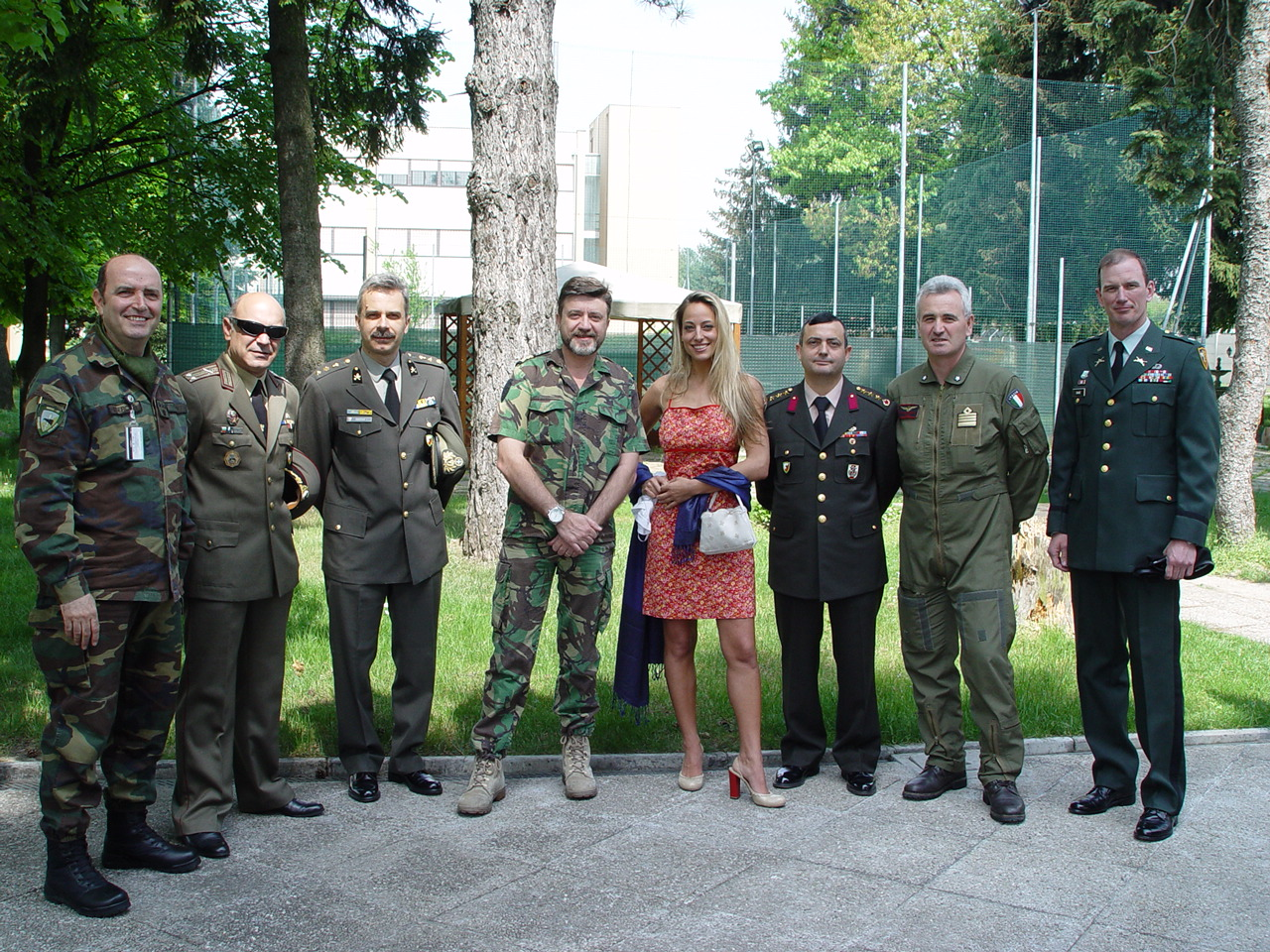 Jessica with the military heads of NATO's Rapidly Deployable Corps, for whom Jessica is the celebrity spokesperson to promote their charity and philanthropic projects in war-torn countries