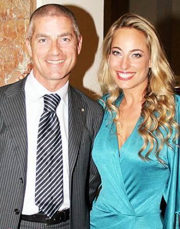 Jessica with network head Giorgio Restelli