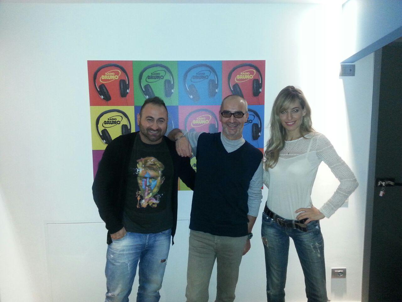 Jessica and Dani Piccirillo in an Italian radio appearance