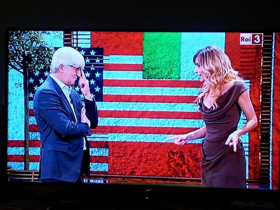 """Jessica e Beppe Severgnini in un simpatico dibattito """"Italia v. USA"""" su RAI"""