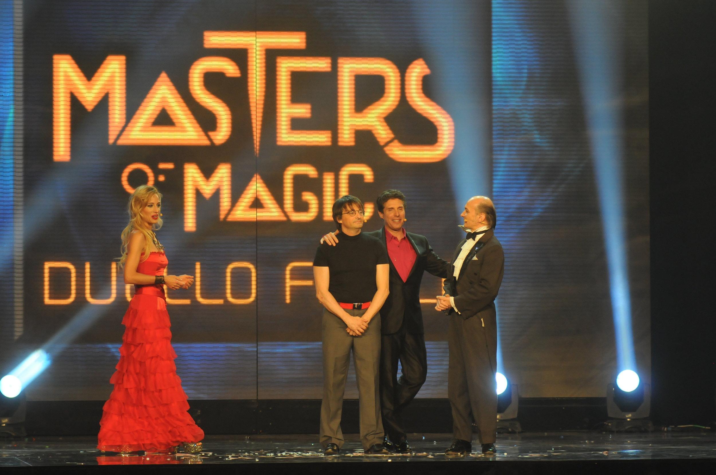 """Jessica alla conduzione della Gala' della Magia, """"Masters of magic"""", con Raul Cremona per la RAI"""