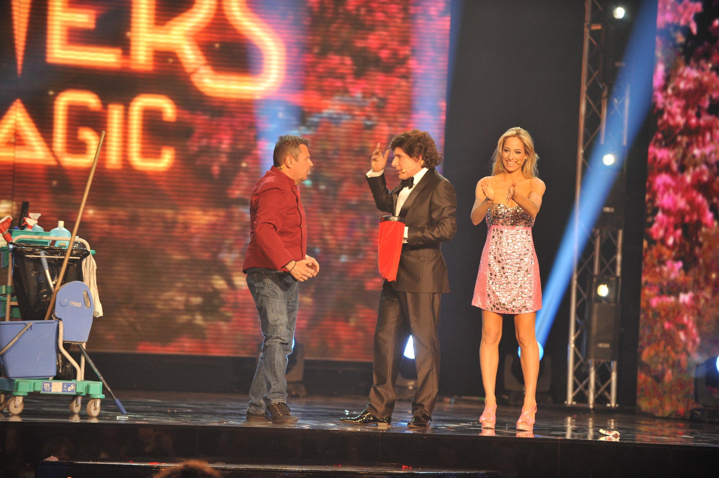 """Jessica alla conduzione del Gala' della Magia, """"Masters of magic"""", con Raul Cremona per la RAI"""