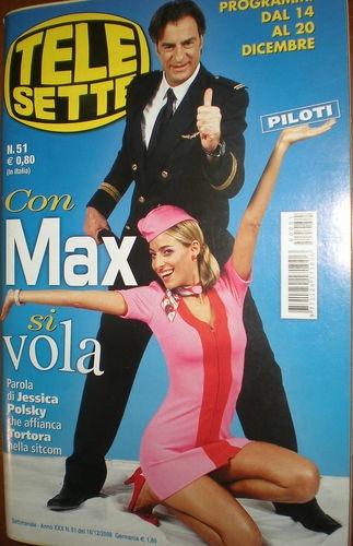 Jessica e Max Tortora in copertina per la sitcom Piloti per la RAI