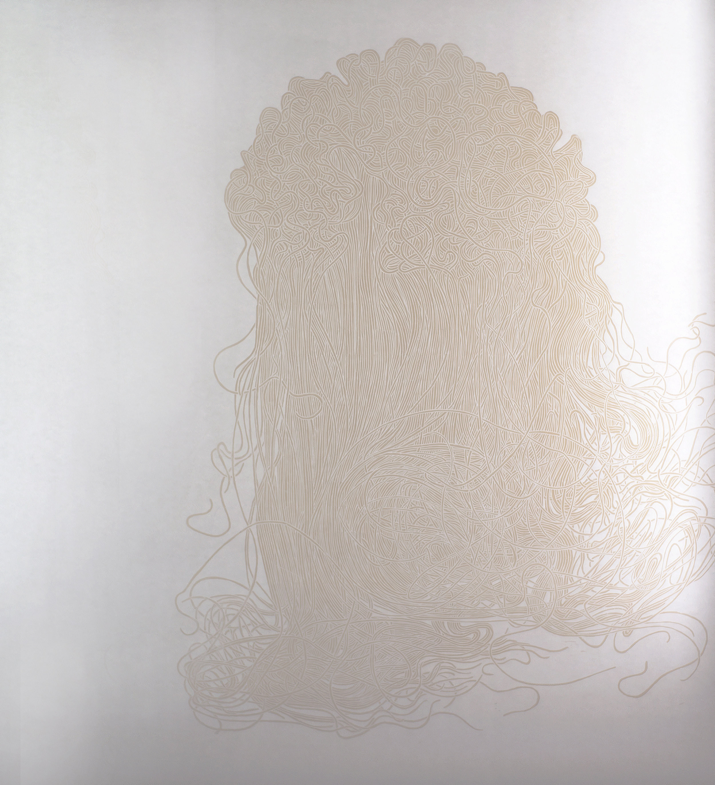 Abyss 001 , 2011,140cmx120cm.Woodcut printed white on white, edition of 3.