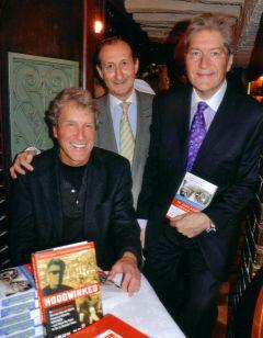 John Perkins (seated) - David Michaels (MercoPress) - Alan Capper (President, Foreign Press Association)