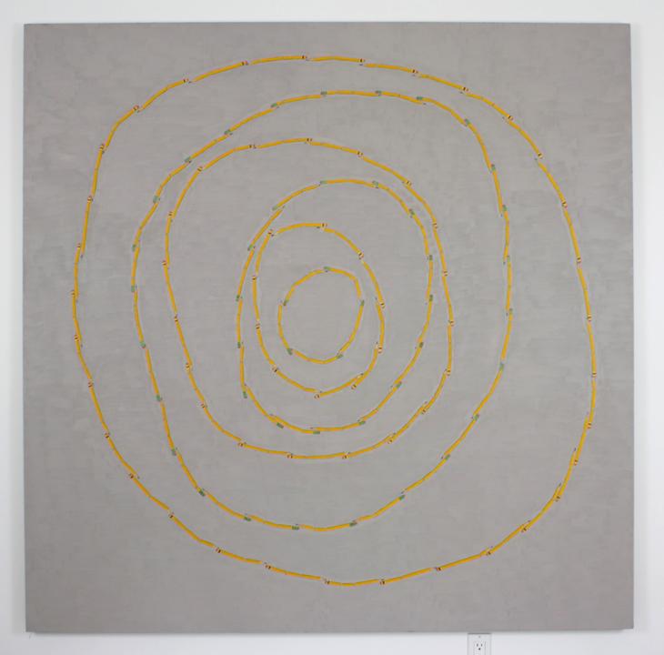 """Broken Pencil Circles"", 2005 , oil on linen, 72 x 72 inches"