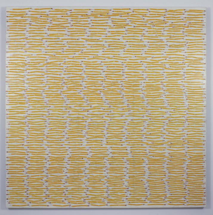 """""""Broken Pencils"""", 2005 , oil on linen, 60 x 60 inches"""
