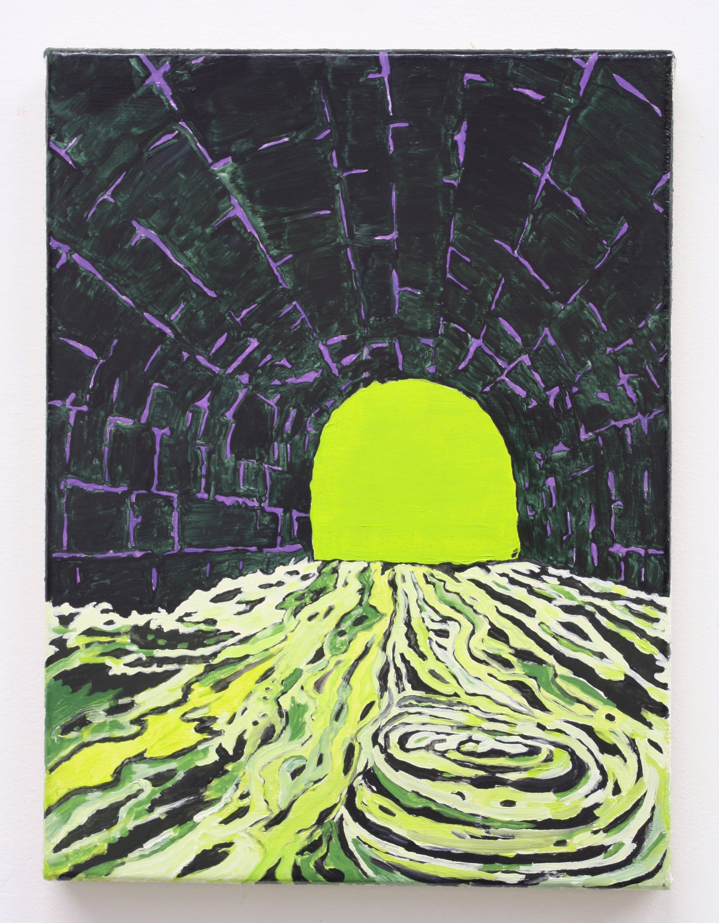 """Untitled, Tunnel"", 2014 , oil on Linen, 12 x 9 inches"