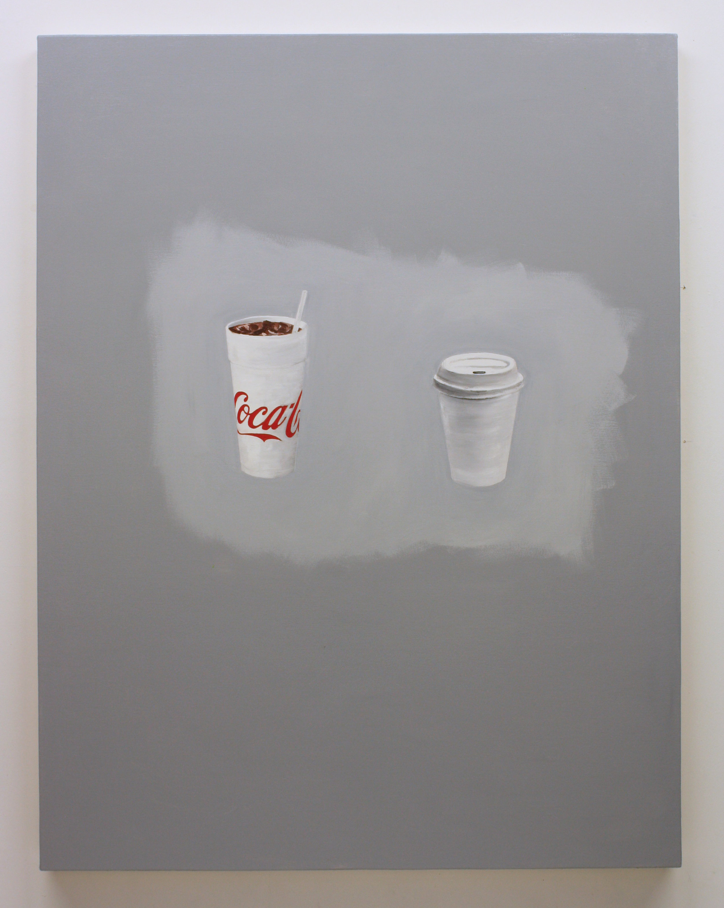 """""""Untitled, (Cups)"""", 2017 , oil on canvas, 60 x 46 inches"""
