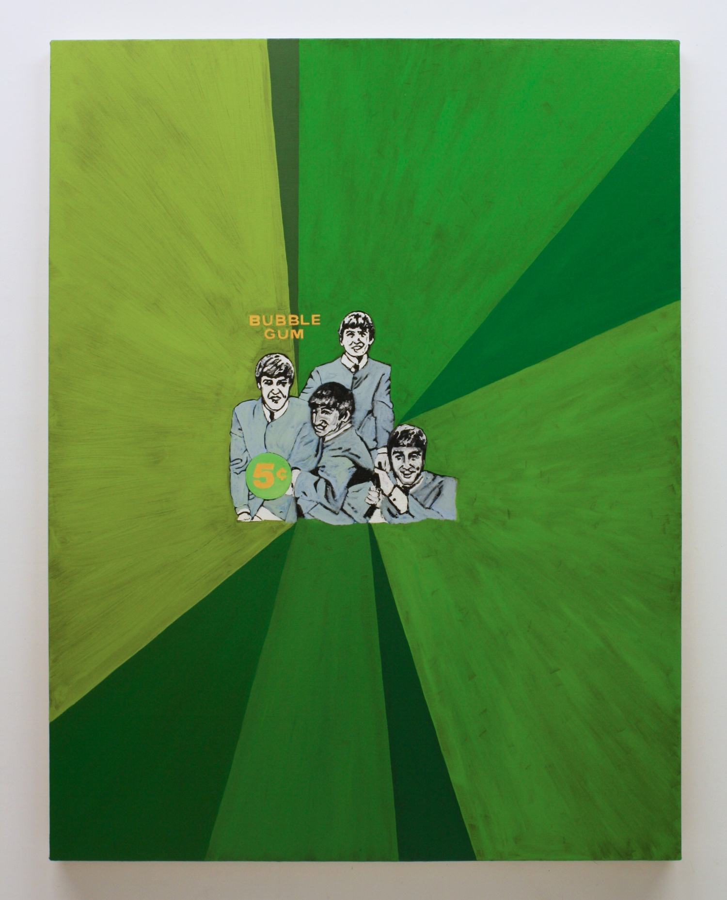 """""""Untitled, (Beatles)"""", 2017 , oil on canvas, 60 x 46 inches"""