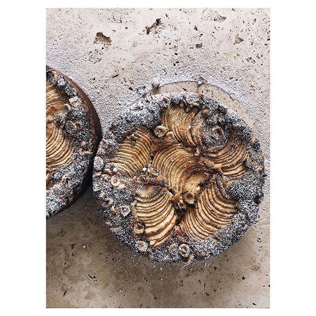 Hazelnut crusted apple and buckwheat cake 🌰
