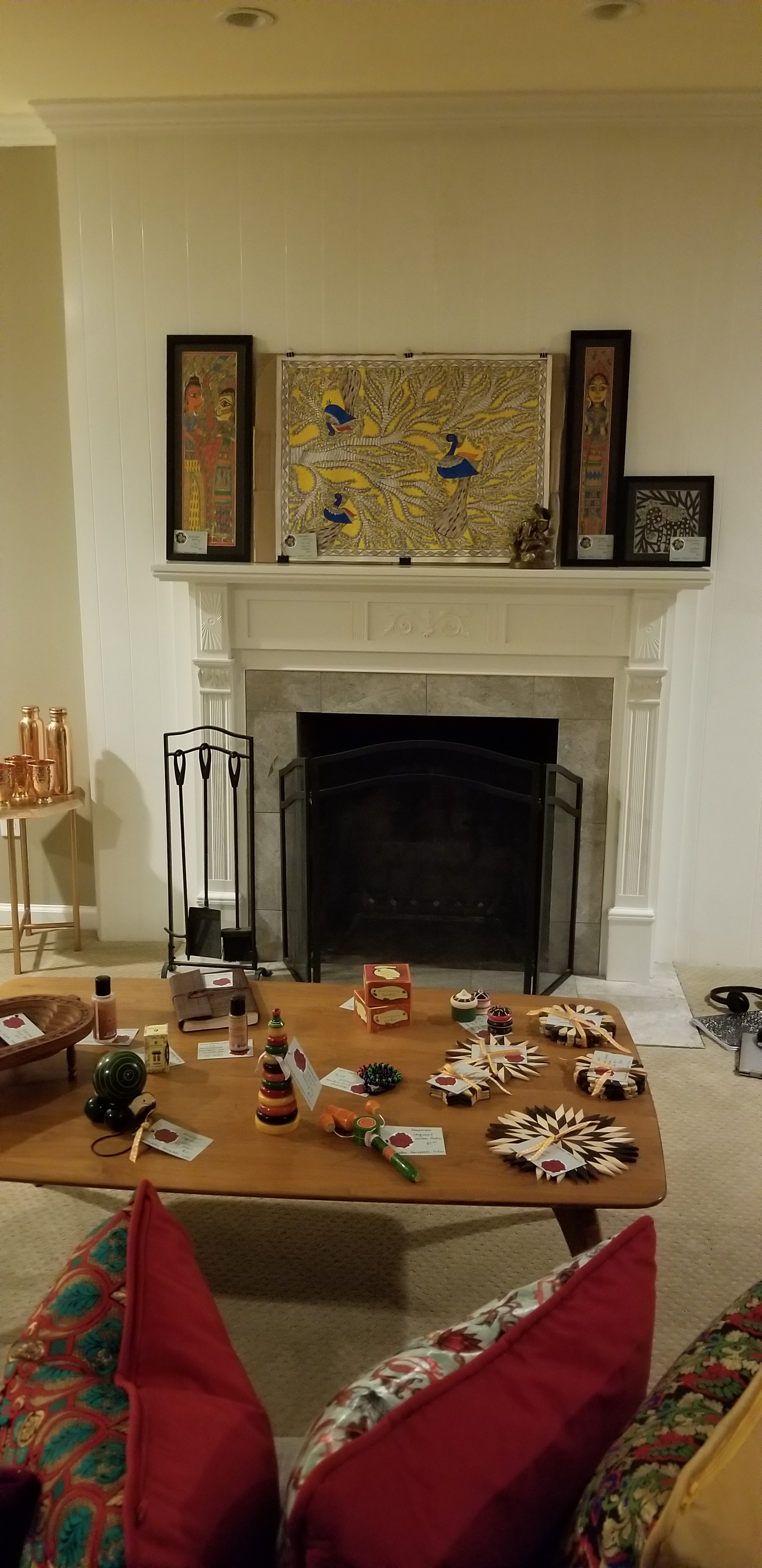 Various paintings and woodworking arts
