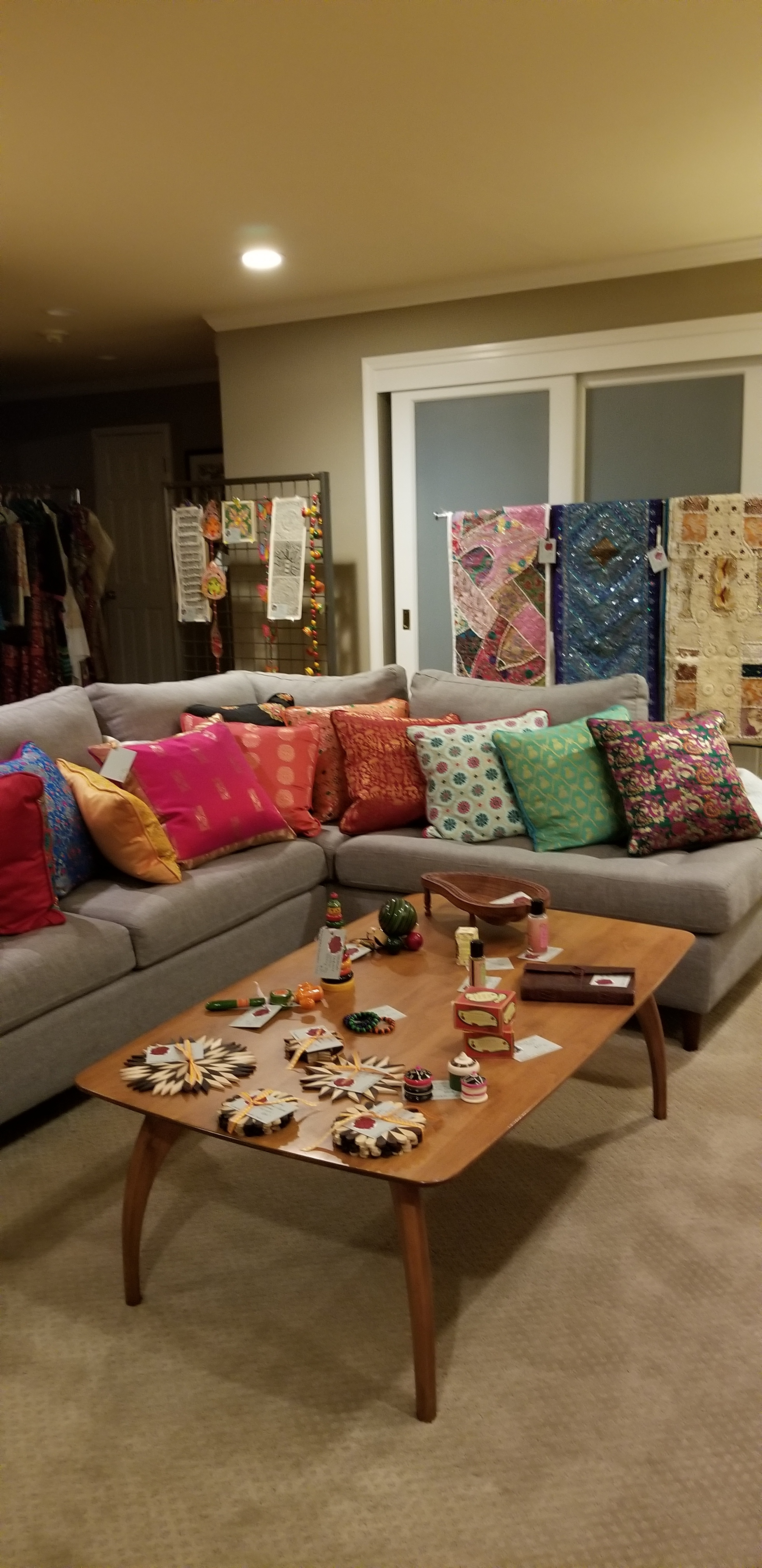 Pillows made from Indian silk