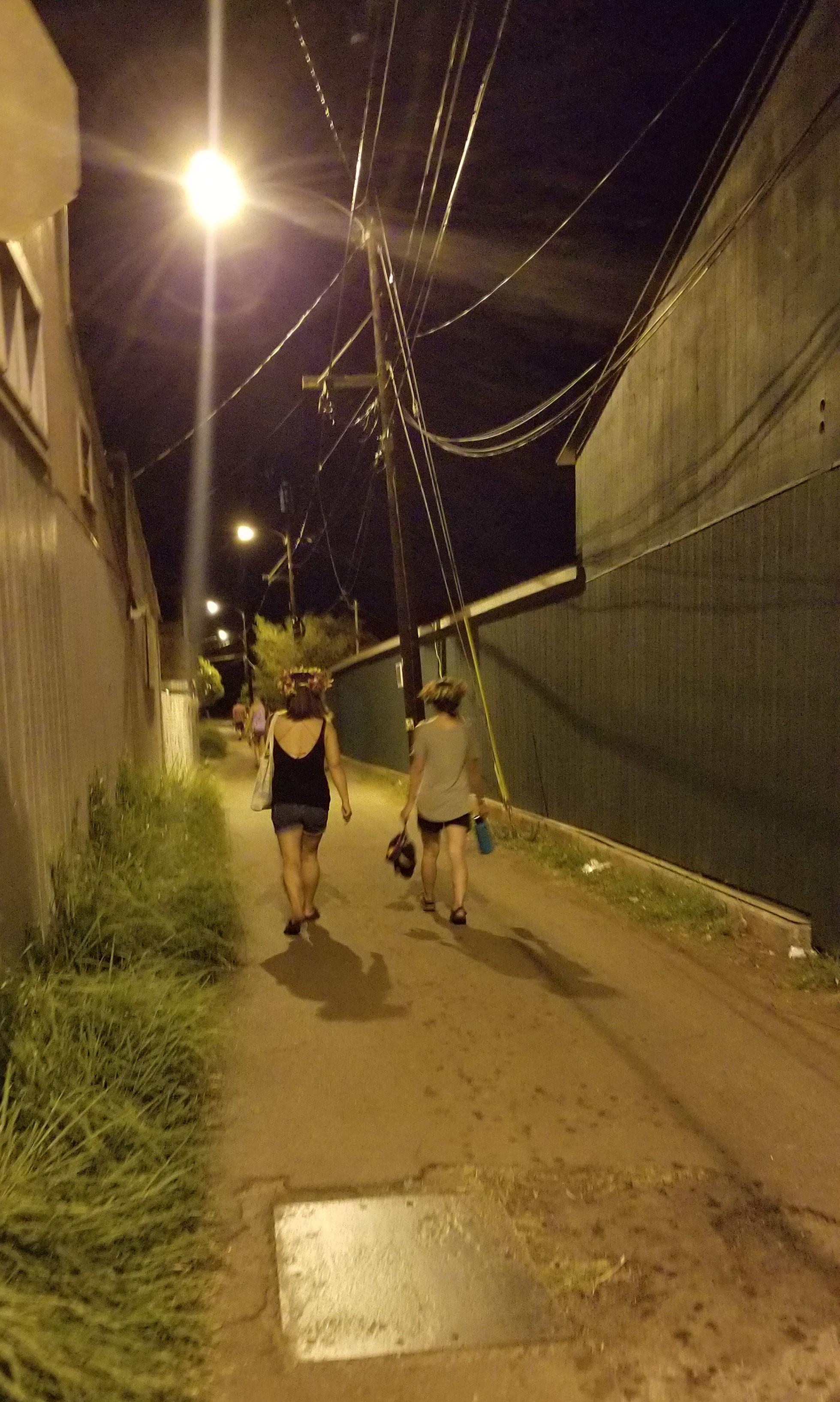 Following strangers down an alleyway…