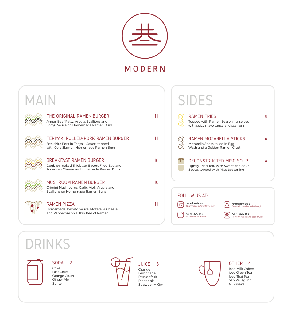Double-sided Menu