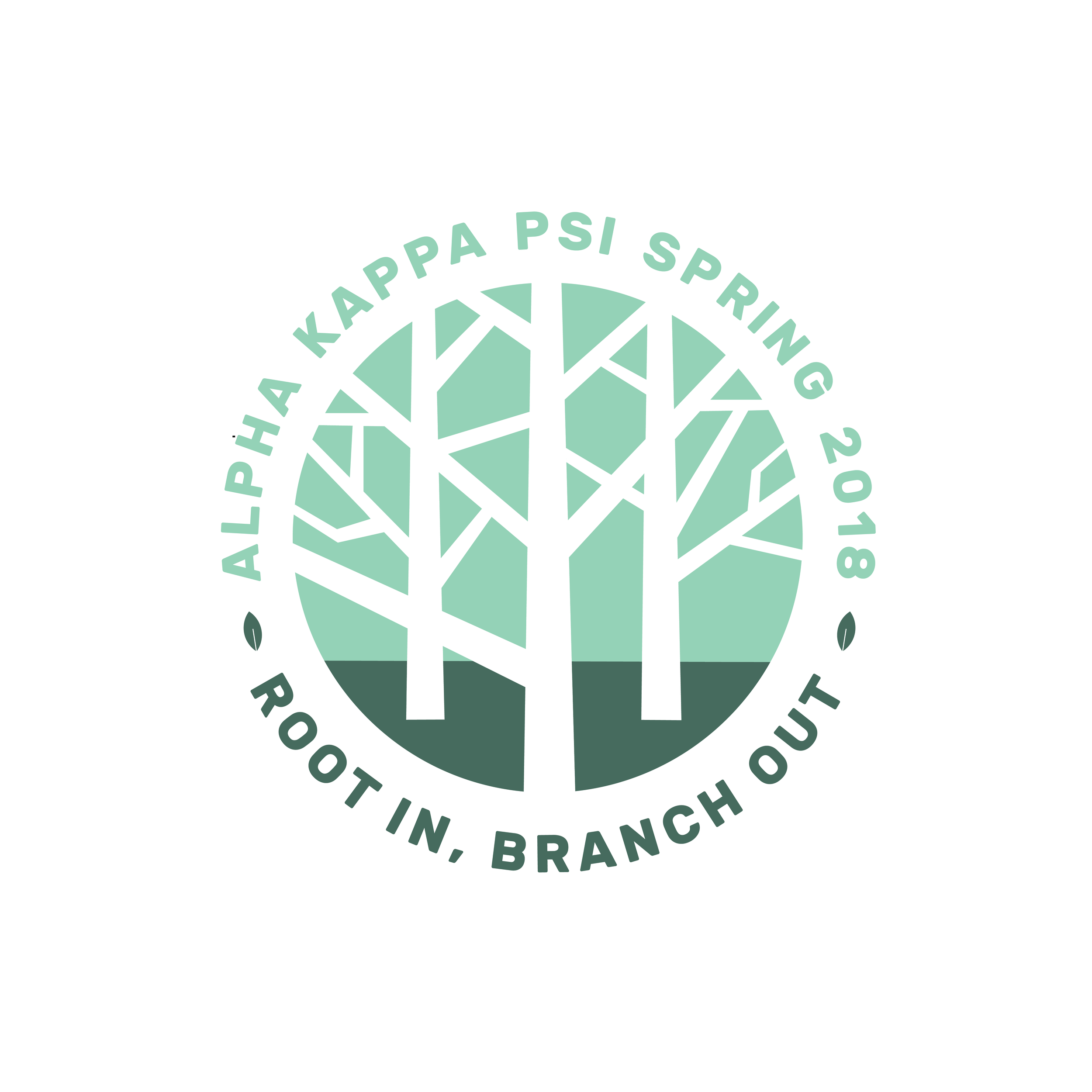 Logo:  if you look closely, you can see A, K, and Psi (Ψ) in the branches