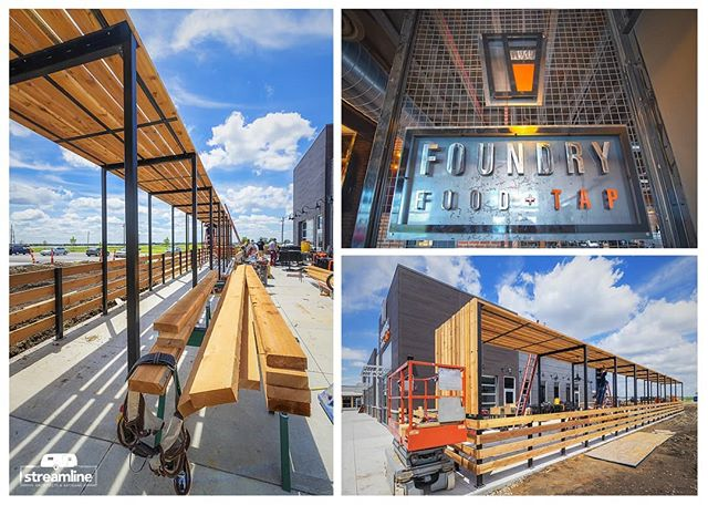 It's the first day of summer and despite the rain we are excited that the Foundry Food + Tap will be opening their doors in just a few short days! Located by the TBK Bank Sports Conplex in Bettendorf, IA.  @foundryfoodtap #food #beer #fabrication #streamlineartisans #summertime #foundry #visitquadcities @visitquadcities #midwest #visitiowa @tbk_sportscomplex #grandopening #comingsoon @streamlinearchitects #streamlinearchitects #design @qctimes @rivercityrodsia