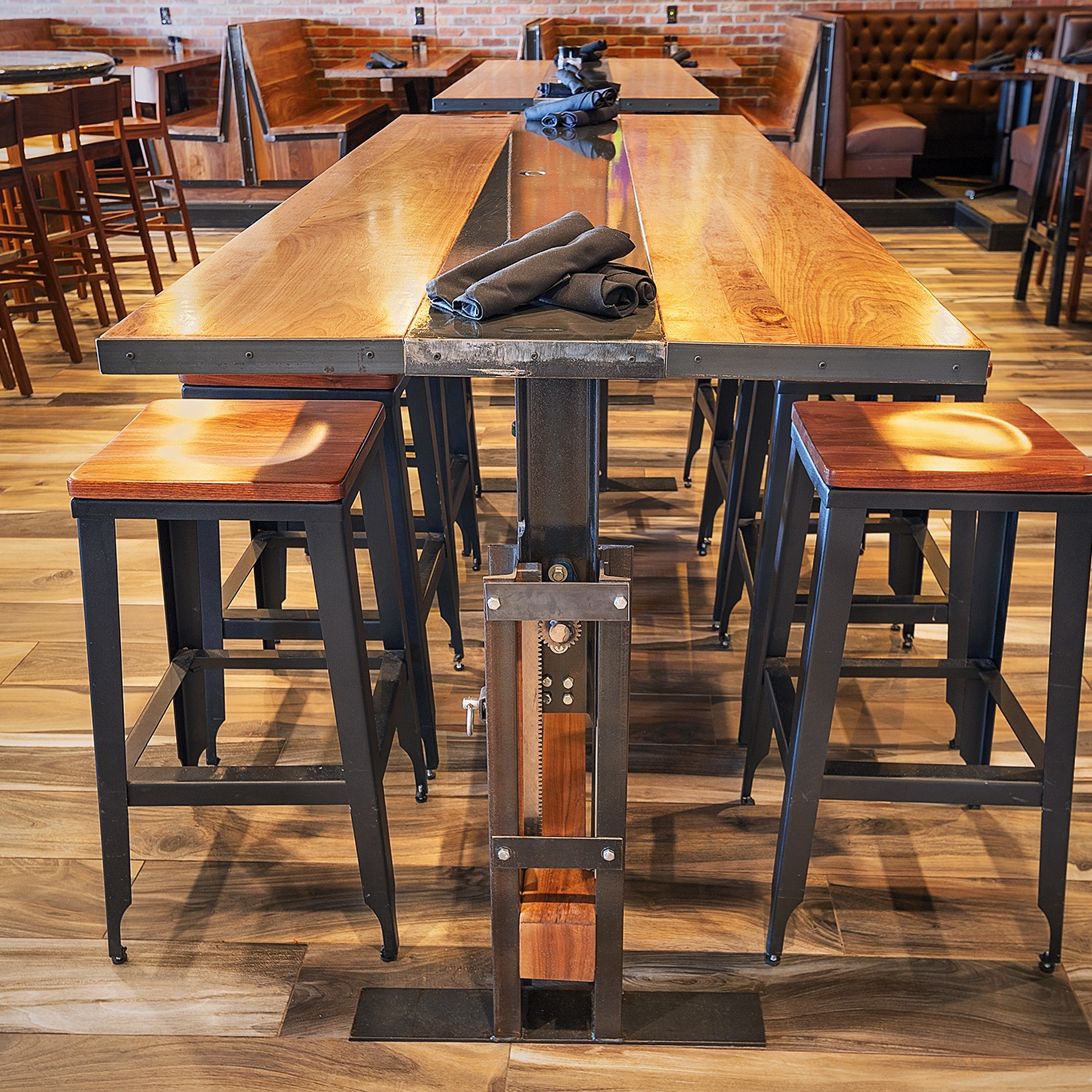 architect-led fabrication - Founded in the Quad Cities, we offer custom steel furniture, trim, handrails, casework, and more to restaurant and office owners, and with a retail store opening this fall, soon unique designs will be available right in your home.