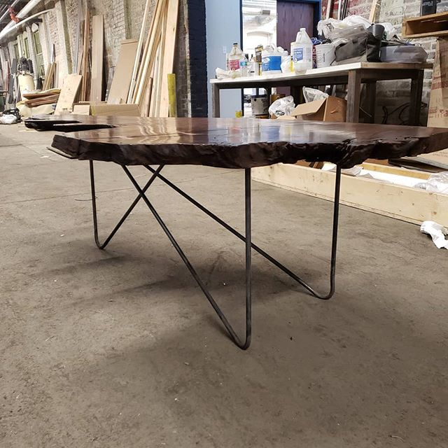 Stop out at ironandgrainfest.com this weekend at the @therustbeltqc to see some local artisans, enjoy food trucks and local brews from @midwest_ale_works or to buy this table!  Doors open at 2pm Friday!