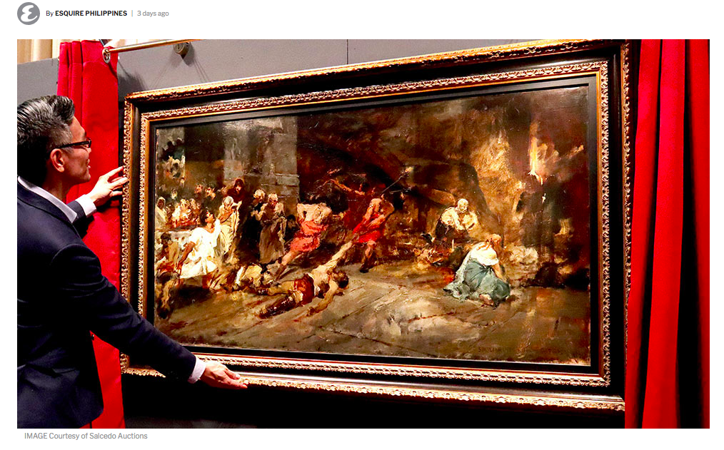 Esquire - The 'Original Spoliarium' May Have Just Been Returned to the Philippines