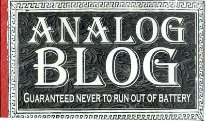 Analog BLOG Notebook