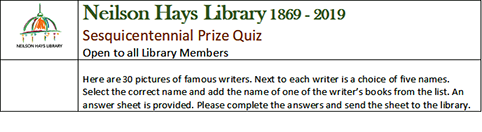 Click the above image to download the Prize Quiz
