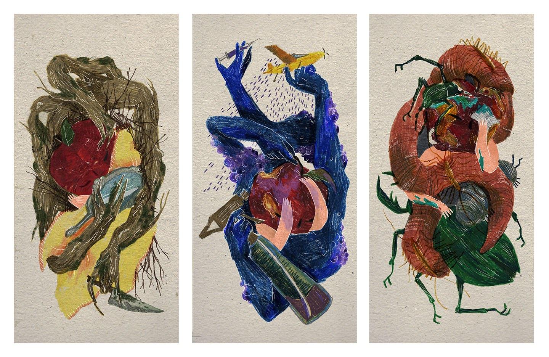 Pencil Crayon-Digital Collage, 2016