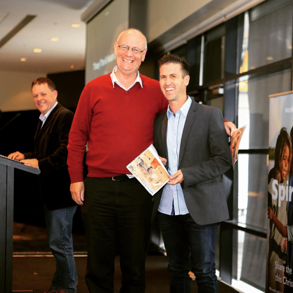 I was incredibly honoured to accept this award from World Vision's CEO Tim Costello.