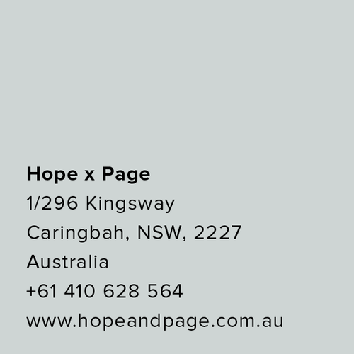 Dan Jones Stockists | Dan Jones Australia retailers | Hope x Page