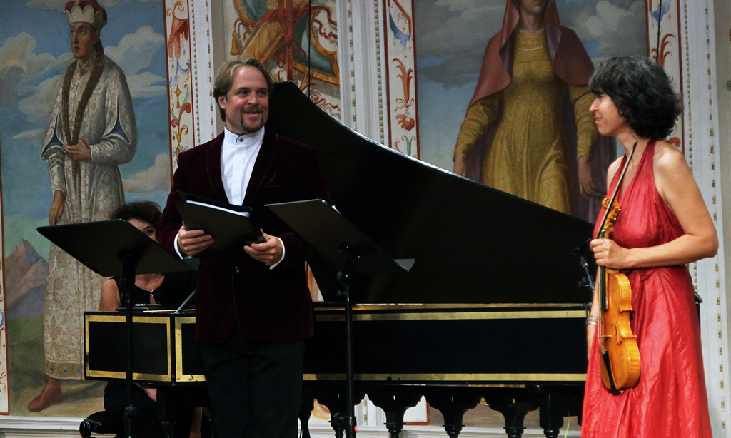 Innsbrucker Festwochen der Alten Musik - The 40th anniversary of the founding concert was performed again at the Spanischer Saal....In a final three Handel arias (from